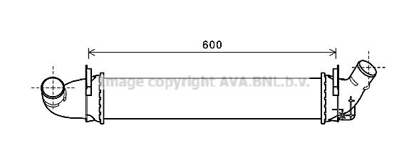 Intercooler radiateur de turbo AVA QUALITY COOLING RTA4496 (X1)