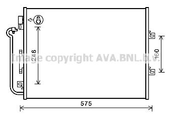 Condenseur / Radiateur de climatisation AVA QUALITY COOLING RTA5454 (X1)