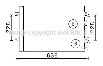 Condenseur / Radiateur de climatisation AVA QUALITY COOLING RTA5467D (X1)