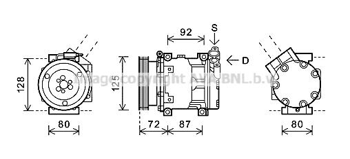 Compresseur AVA QUALITY COOLING RTAK479 (X1)