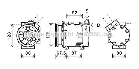 Compresseur AVA QUALITY COOLING RTAK619 (X1)