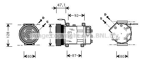 Compresseur AVA QUALITY COOLING RTK106 (X1)