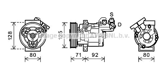 Compresseur AVA QUALITY COOLING RTK495 (X1)