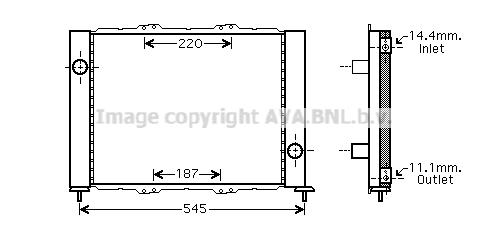 Module de refroidissement AVA QUALITY COOLING RTM388 (X1)