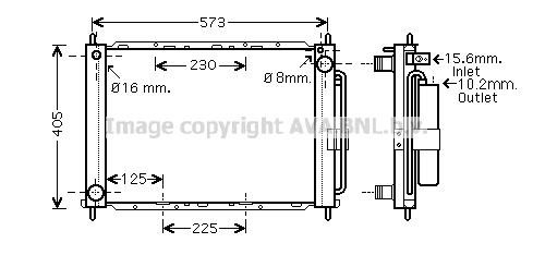 Module de refroidissement AVA QUALITY COOLING RTM405 (X1)