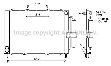 Module de refroidissement AVA QUALITY COOLING RTM497 (X1)