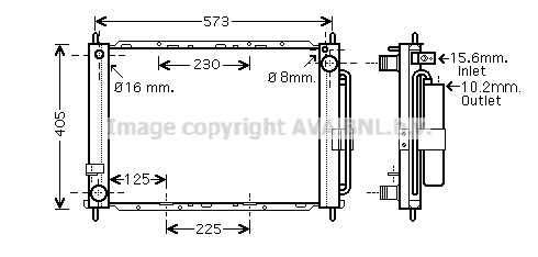 Module de refroidissement AVA QUALITY COOLING RTM500 (X1)