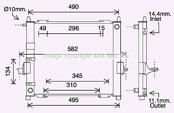 Module de refroidissement AVA QUALITY COOLING RTM632 (X1)