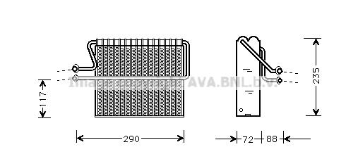 Evaporateur AVA QUALITY COOLING RTV004 (X1)