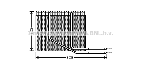 Evaporateur AVA QUALITY COOLING RTV353 (X1)