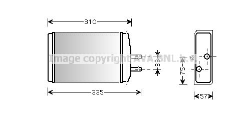 Radiateur de chauffage AVA QUALITY COOLING SA6016 (X1)