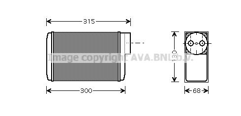 Radiateur de chauffage AVA QUALITY COOLING SA6017 (X1)