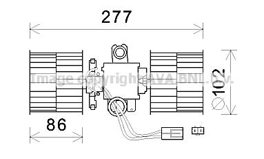 Moteur de ventilateur de chauffage AVA QUALITY COOLING SA8022 (X1)