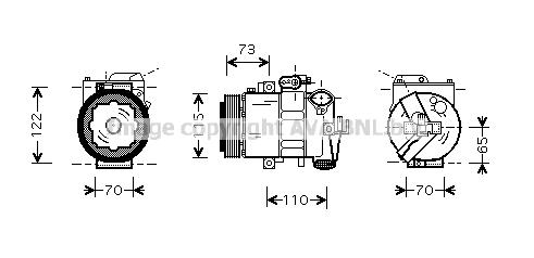 Compresseur AVA QUALITY COOLING SAK018 (X1)