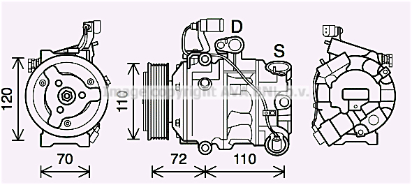 Compresseur AVA QUALITY COOLING SAK025 (X1)