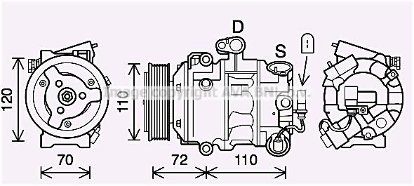 Compresseur AVA QUALITY COOLING SAK026 (X1)