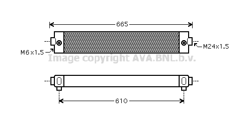 Radiateur huile AVA QUALITY COOLING SC3023 (X1)