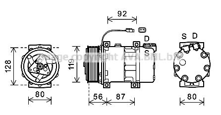 Compresseur AVA QUALITY COOLING SCAK033 (X1)