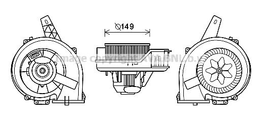 Moteur de ventilateur de chauffage AVA QUALITY COOLING ST8044 (X1)