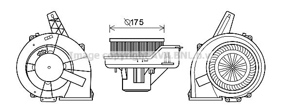 Moteur de ventilateur de chauffage AVA QUALITY COOLING ST8045 (X1)