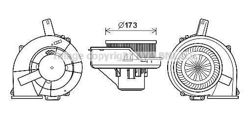 Moteur de ventilateur de chauffage AVA QUALITY COOLING ST8047 (X1)