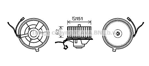 Moteur de ventilateur de chauffage AVA QUALITY COOLING ST8505 (X1)