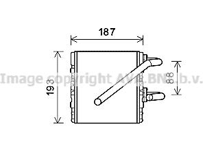 Radiateur de chauffage AVA QUALITY COOLING SU6107 (X1)