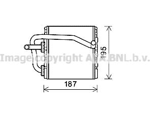 Radiateur de chauffage AVA QUALITY COOLING SUA6108 (X1)