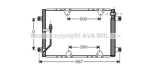Condenseur / Radiateur de climatisation AVA QUALITY COOLING SZ5107D (X1)