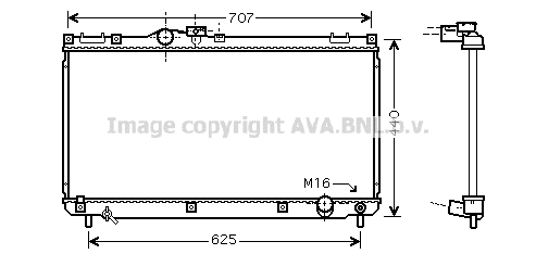 Radiateur de refroidissement AVA QUALITY COOLING TO2321 (X1)