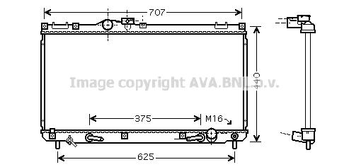 Radiateur de refroidissement AVA QUALITY COOLING TO2322 (X1)