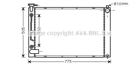 Radiateur de refroidissement AVA QUALITY COOLING TO2343 (X1)