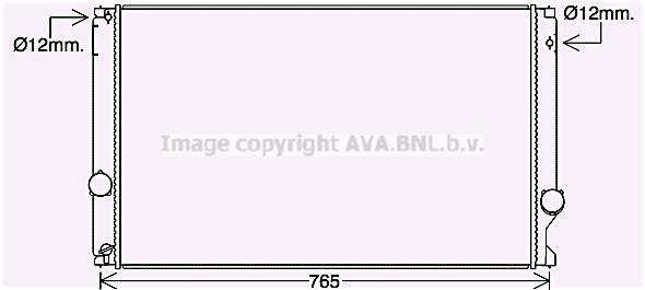 Radiateur de refroidissement AVA QUALITY COOLING TO2750 (X1)