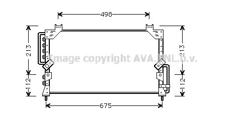 Condenseur / Radiateur de climatisation AVA QUALITY COOLING TO5191 (X1)