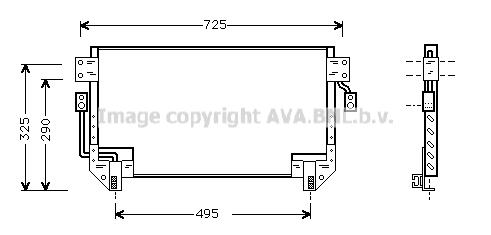 Condenseur / Radiateur de climatisation AVA QUALITY COOLING TO5195 (X1)
