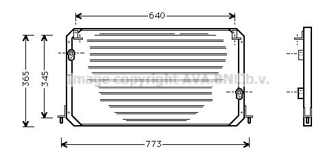 Condenseur / Radiateur de climatisation AVA QUALITY COOLING TO5224
