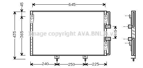 Condenseur / Radiateur de climatisation AVA QUALITY COOLING TO5226 (X1)
