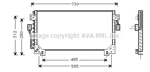 Condenseur / Radiateur de climatisation AVA QUALITY COOLING TO5228 (X1)