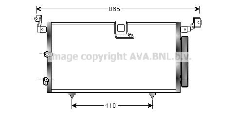 Condenseur / Radiateur de climatisation AVA QUALITY COOLING TO5384D (X1)