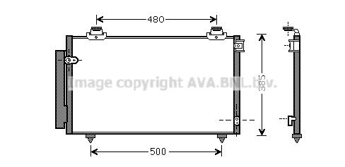 Condenseur / Radiateur de climatisation AVA QUALITY COOLING TO5431D (X1)
