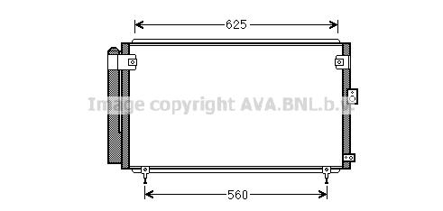 Condenseur / Radiateur de climatisation AVA QUALITY COOLING TO5558D