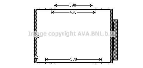 Condenseur / Radiateur de climatisation AVA QUALITY COOLING TO5568D (X1)