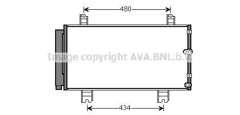 Condenseur / Radiateur de climatisation AVA QUALITY COOLING TO5572D (X1)