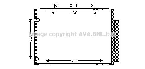 Condenseur / Radiateur de climatisation AVA QUALITY COOLING TO5573D (X1)
