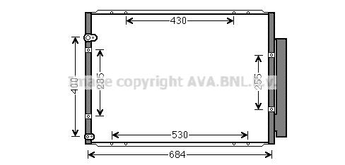 Condenseur / Radiateur de climatisation AVA QUALITY COOLING TO5574D (X1)