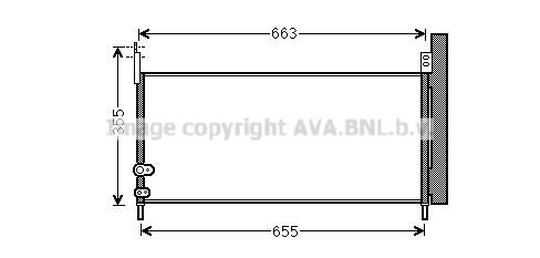 Condenseur / Radiateur de climatisation AVA QUALITY COOLING TO5576D (X1)