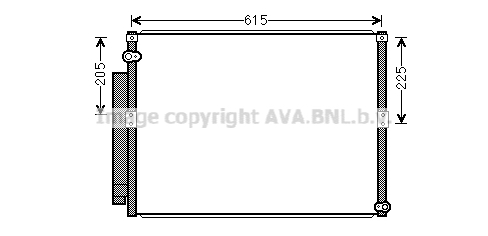 Condenseur / Radiateur de climatisation AVA QUALITY COOLING TO5640D (X1)