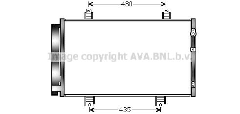 Condenseur / Radiateur de climatisation AVA QUALITY COOLING TO5646 (X1)