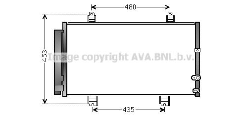 Condenseur / Radiateur de climatisation AVA QUALITY COOLING TO5653D (X1)