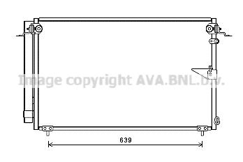 Condenseur / Radiateur de climatisation AVA QUALITY COOLING TO5654D (X1)